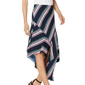 Bar III Striped Asymmetrical Skirt Far Side, 4
